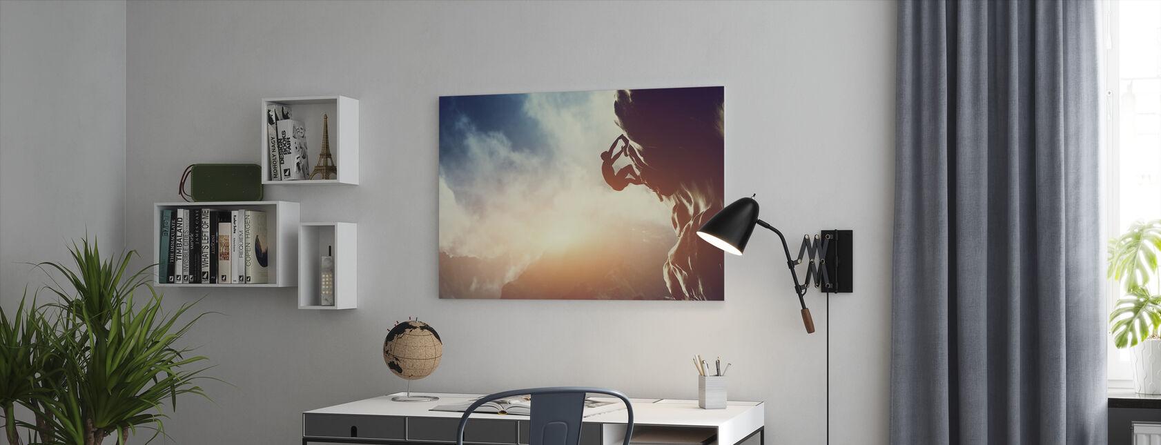 Klimmen - Canvas print - Kantoor