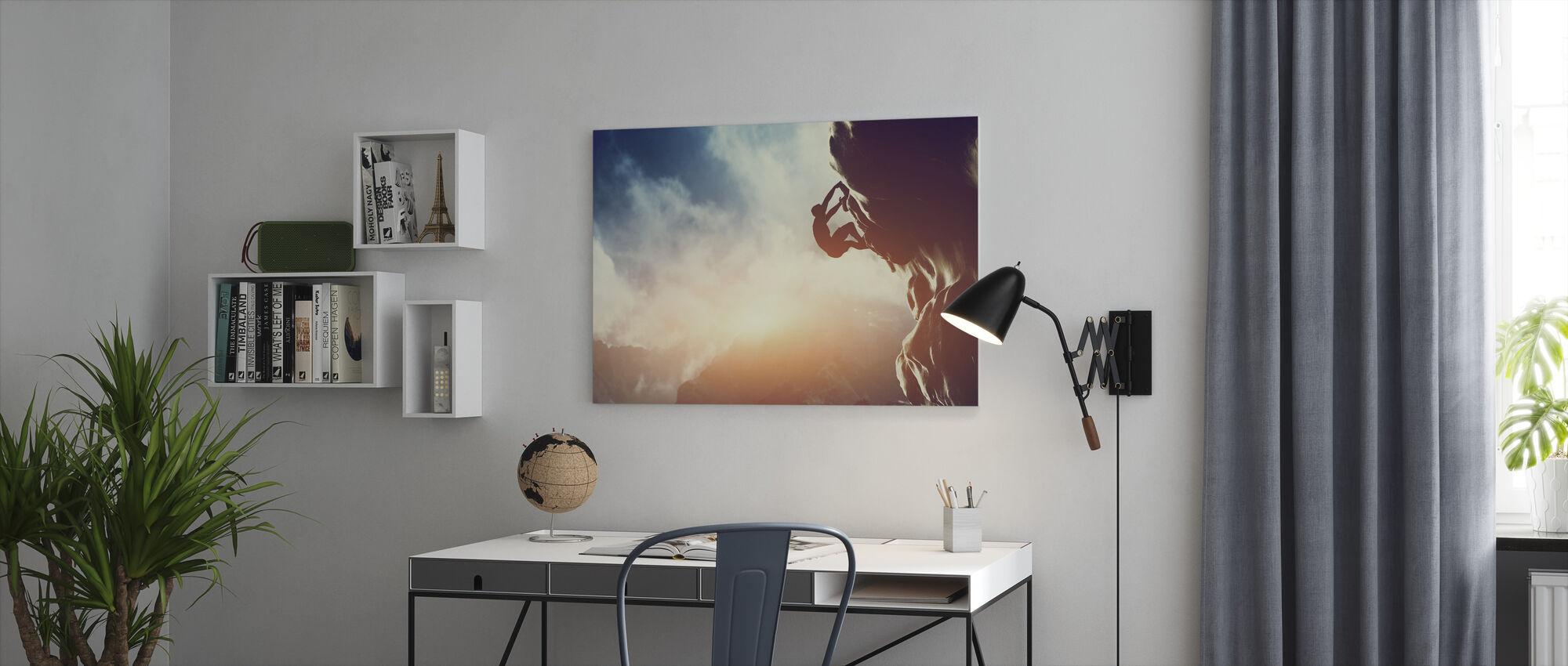 Climbing - Canvas print - Office