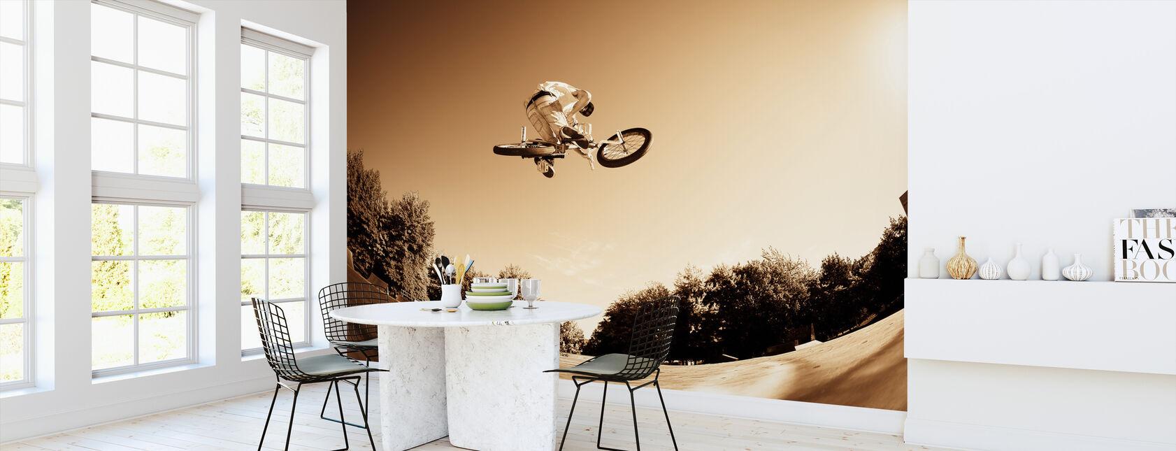 Hoge BMX-sprong - Behang - Keuken