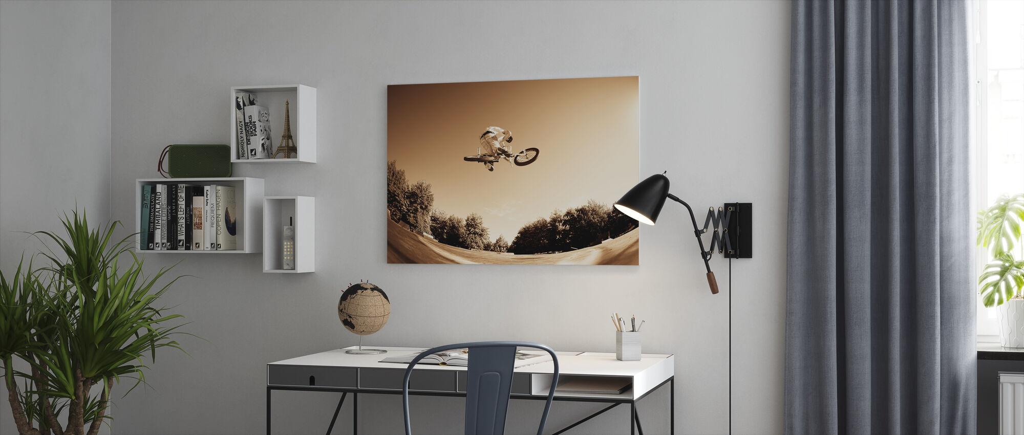 High BMX Jump - Canvas print - Office