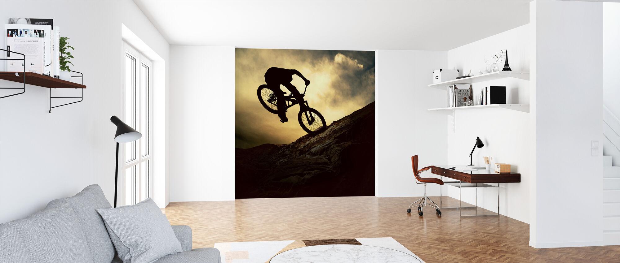 Mountain Bike Rider - Wallpaper - Office
