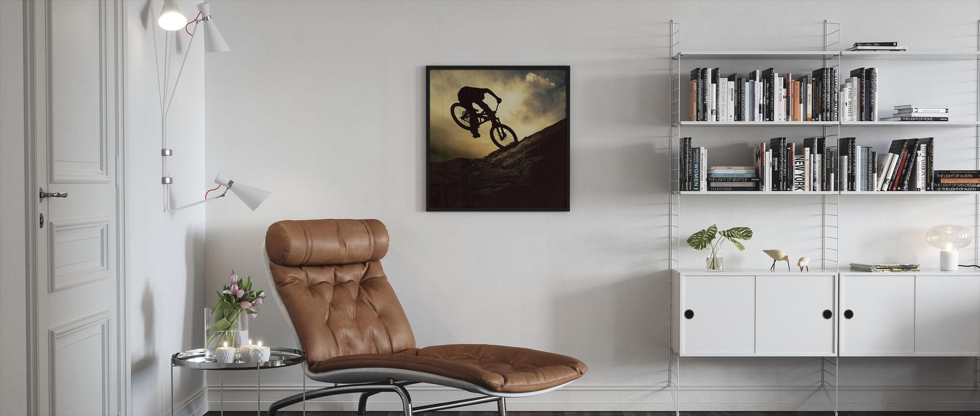 Mountainbike Rider - Ingelijste print - Woonkamer