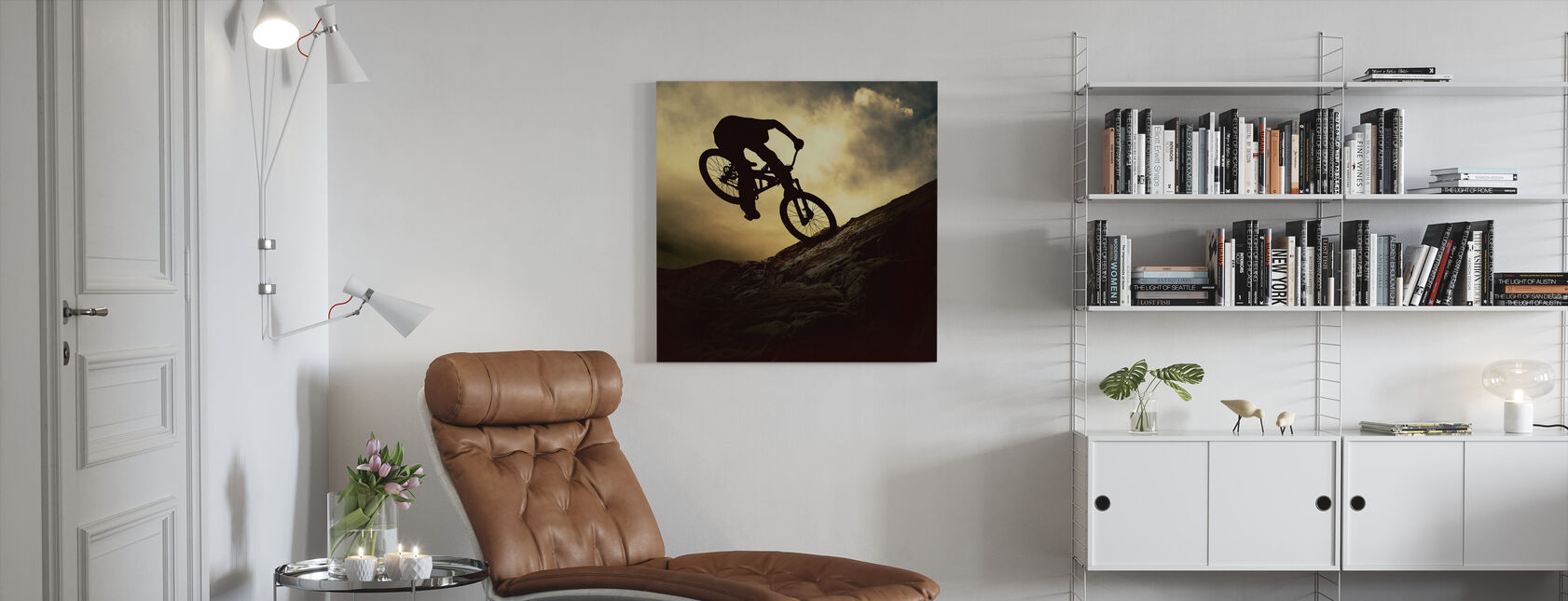 Mountain Bike Rider - Canvas print - Living Room
