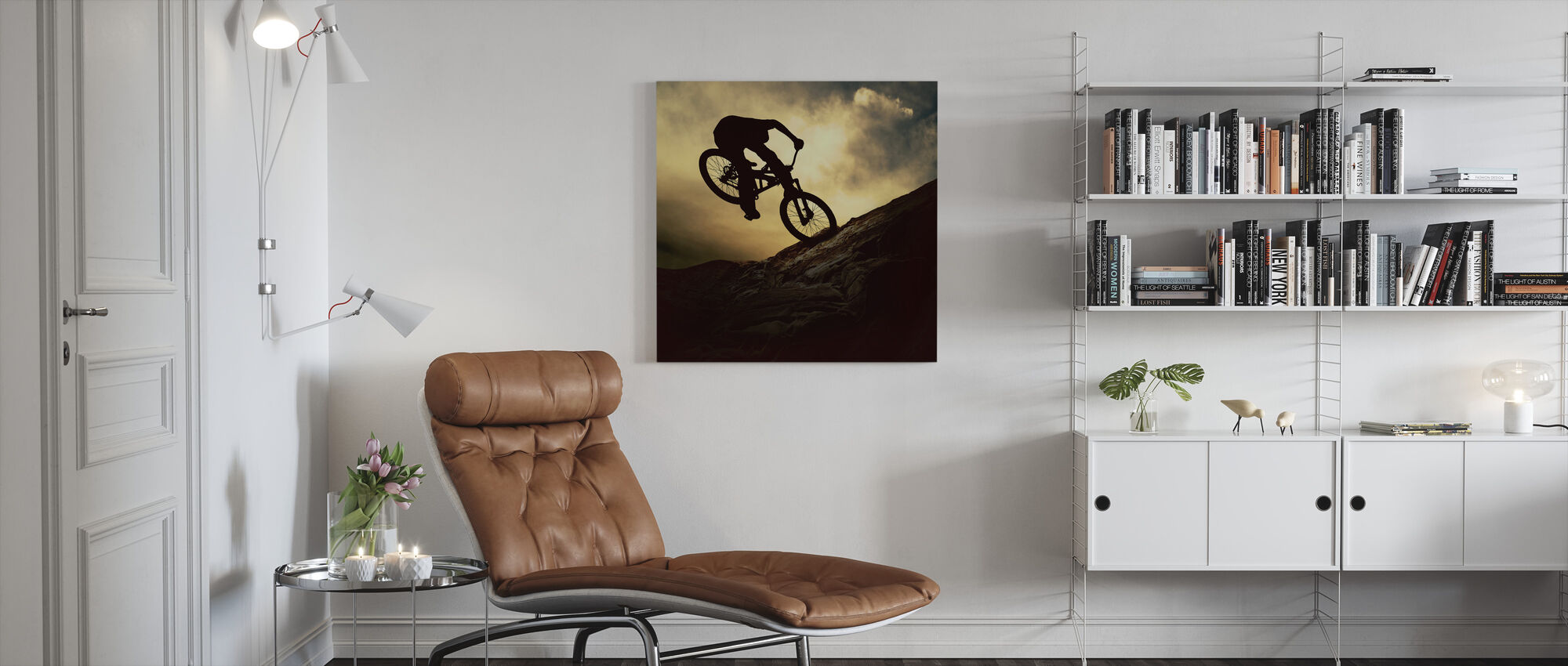 Mountain Bike Rider - Canvas print - Living Room
