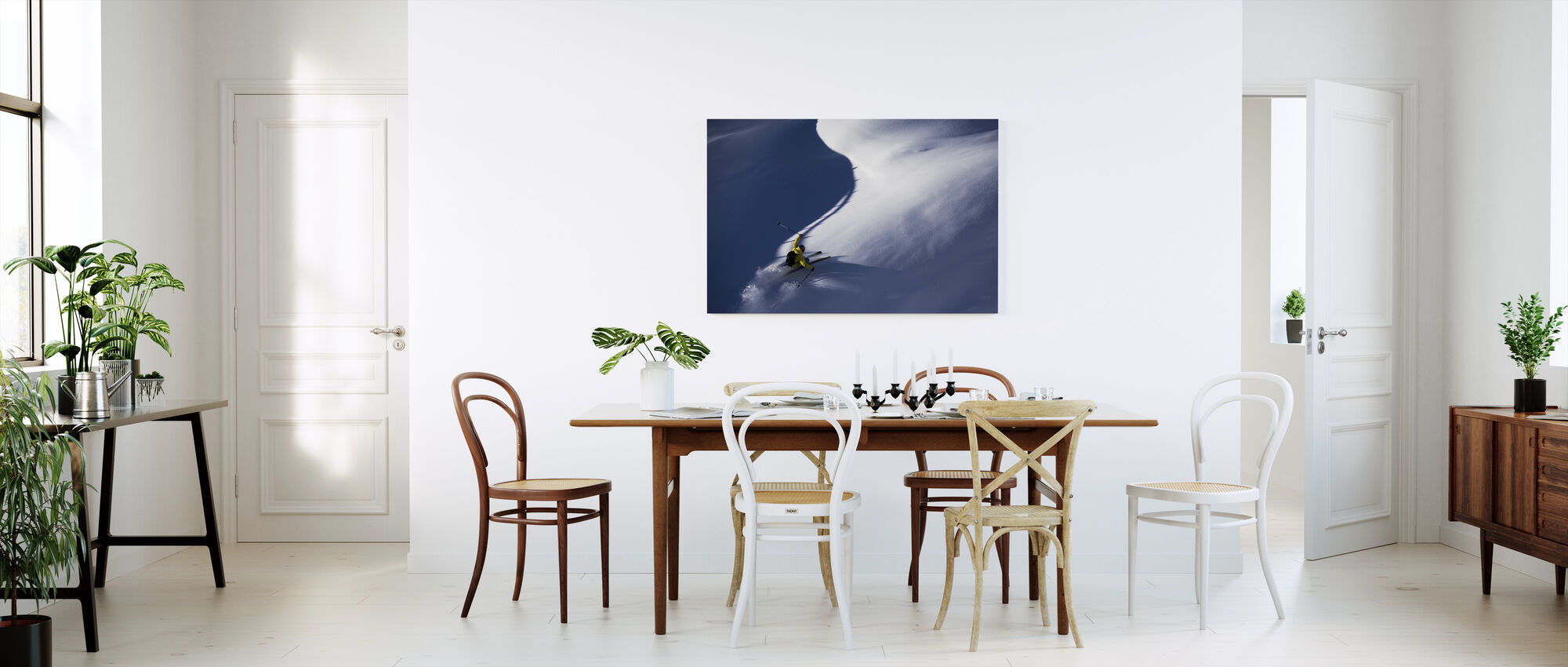 Powder Snow Skiing - Canvas print - Kitchen