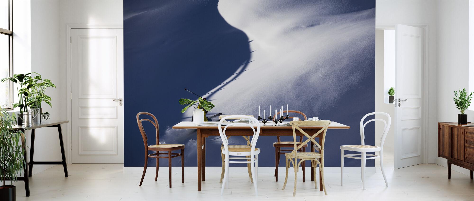 Powder Snow Skiing - Wallpaper - Kitchen