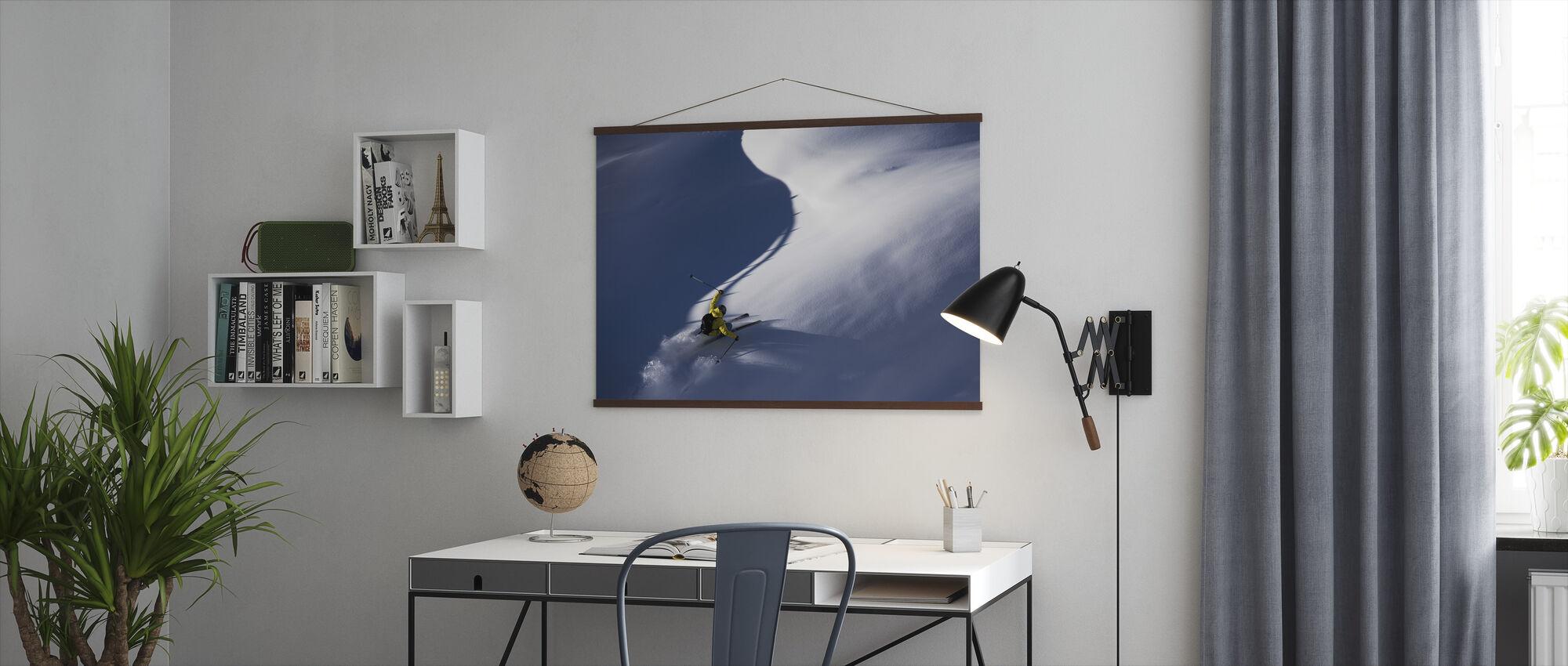Pulver Snö Skidåkning - Poster - Kontor