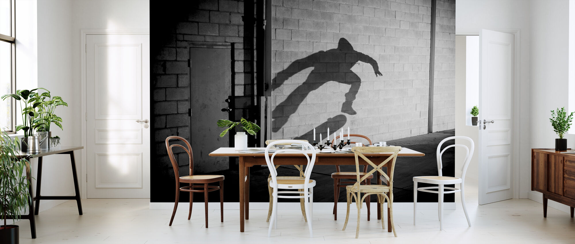 Shadow Skateboarder - Behang - Keuken