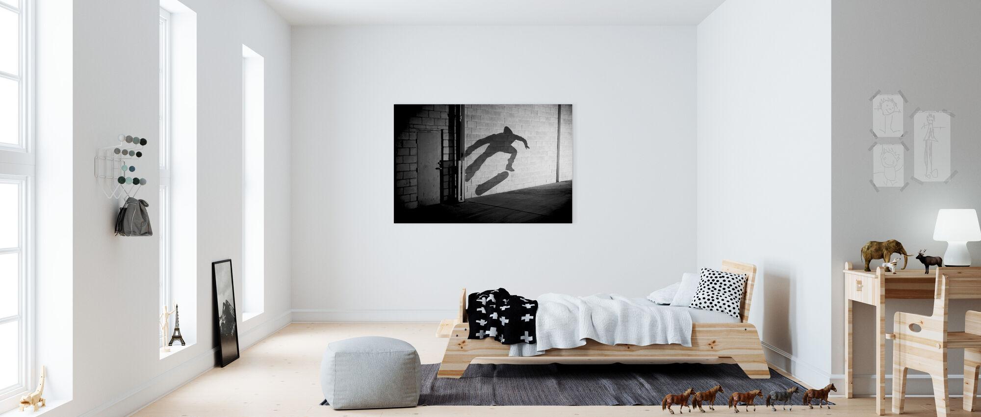 Shadow Skateboarder - Canvas print - Kids Room