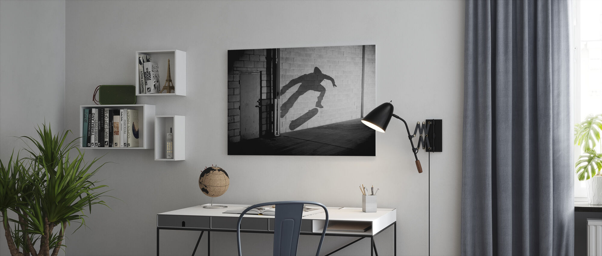 Shadow Skateboarder - Canvas print - Office