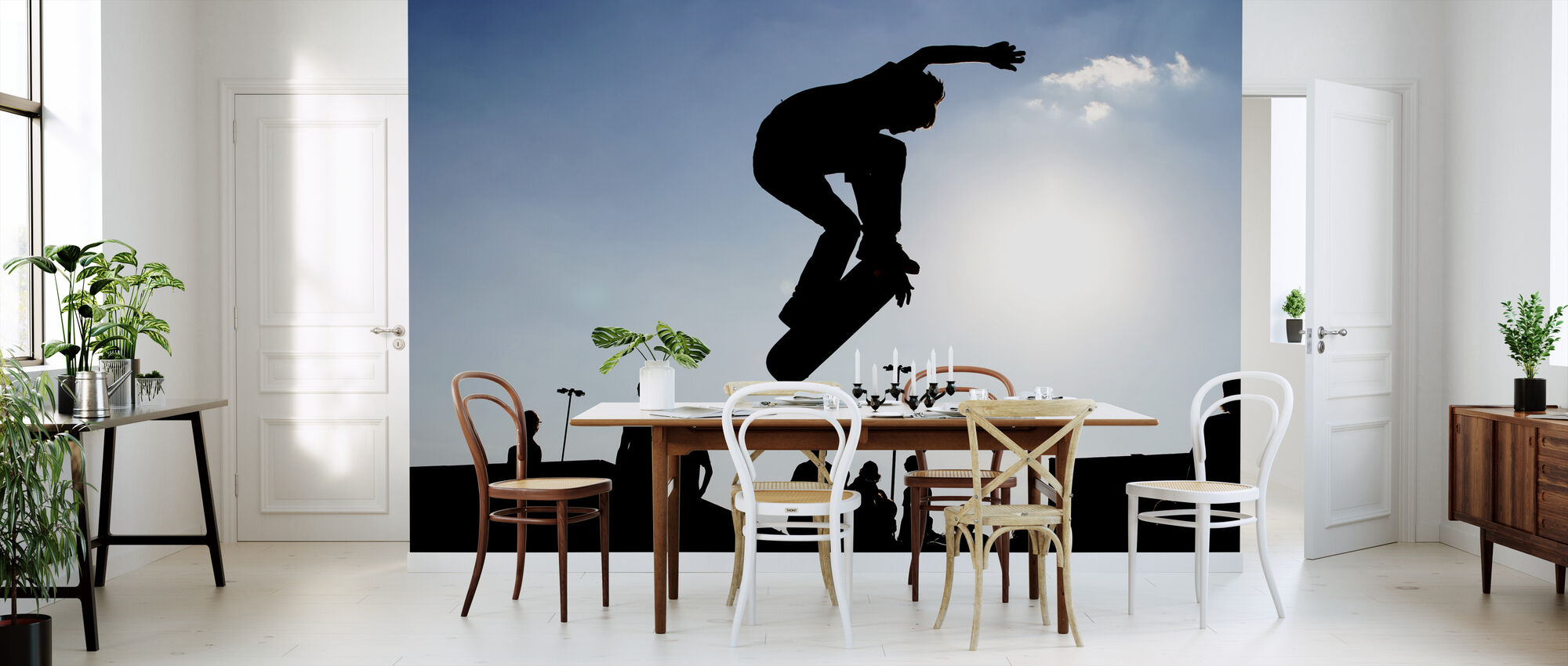 skateboard jump beliebte fototapete photowall. Black Bedroom Furniture Sets. Home Design Ideas