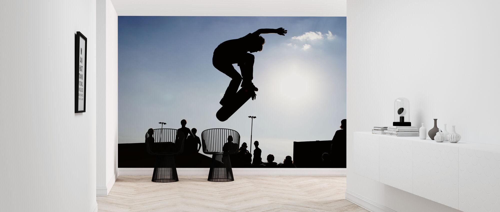 Skateboard Hoppa - Tapet - Hall