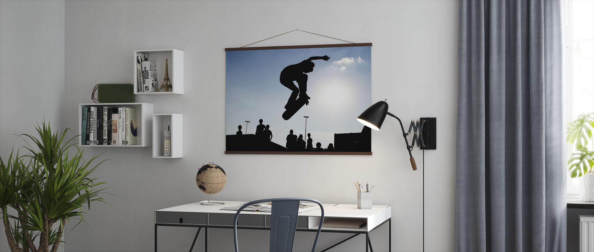 Skateboard Jump - Poster - Office