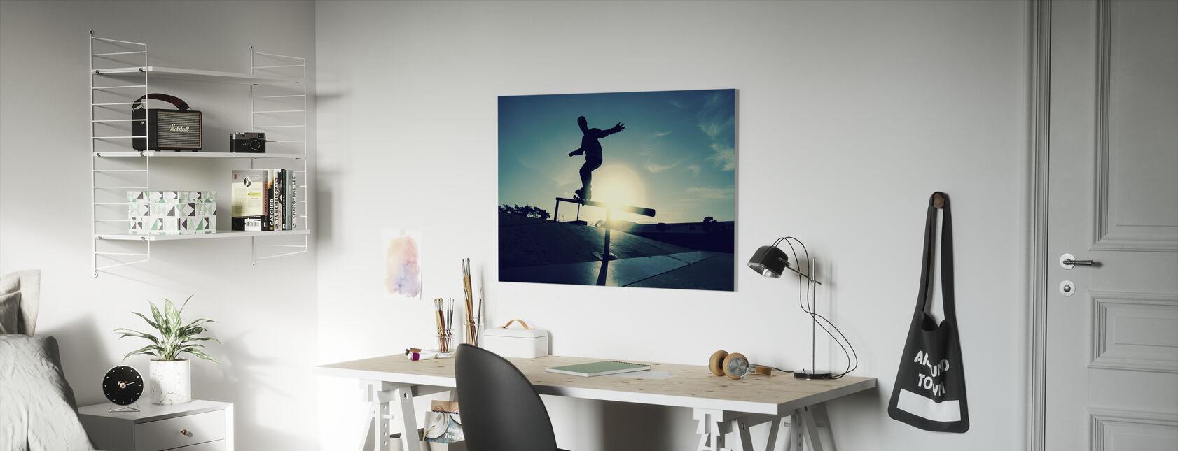 Skateboarder on a Grind - Canvas print - Kids Room