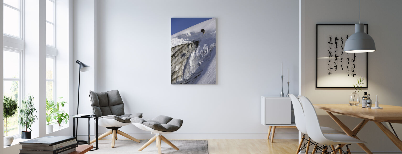 Skiing on the Apussuit Glacier - Canvas print - Living Room