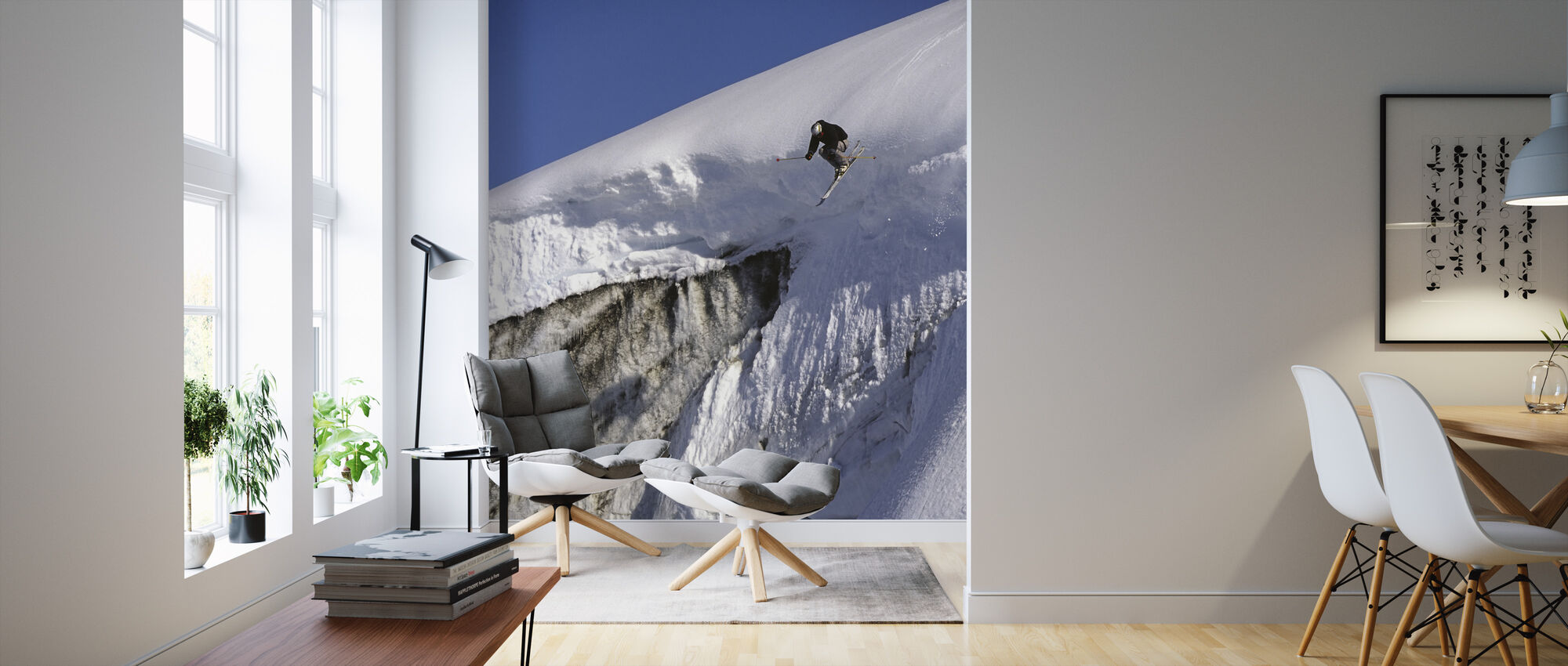 Skiing on the Apussuit Glacier - Wallpaper - Living Room