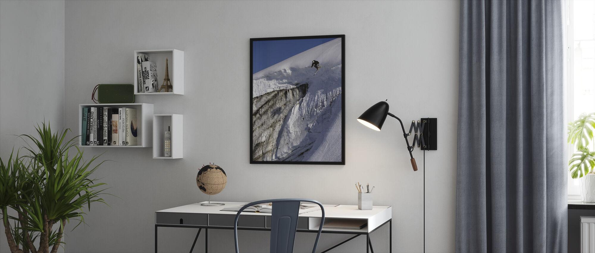 Hiihto Apussuit jäätikkö - Kehystetty kuva - Toimisto