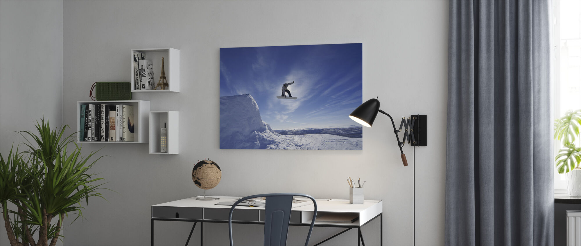 Snowboard Big Air Jump - Canvas print - Kantoor
