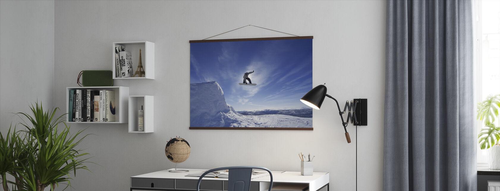 Snowboard Big Air Jump - Poster - Kantoor