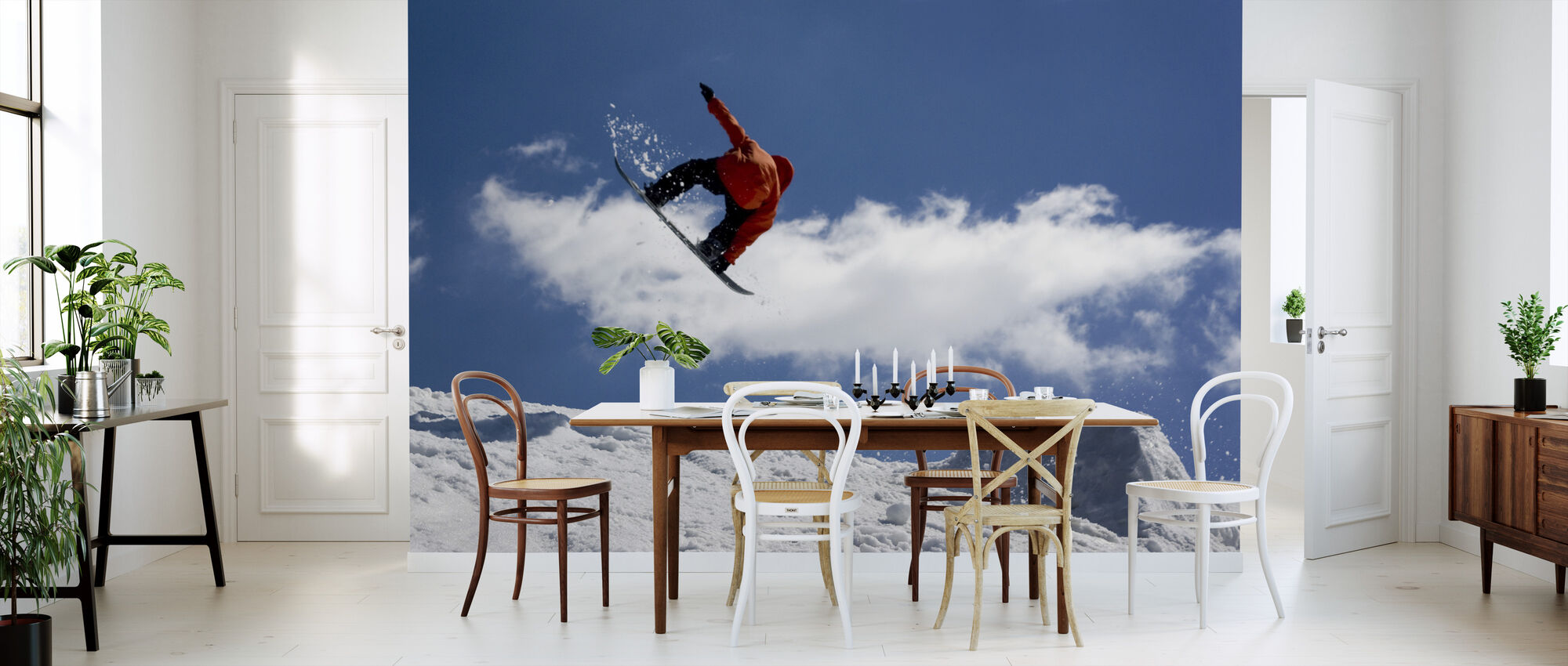 Snowboard Jump from Ramp - Wallpaper - Kitchen