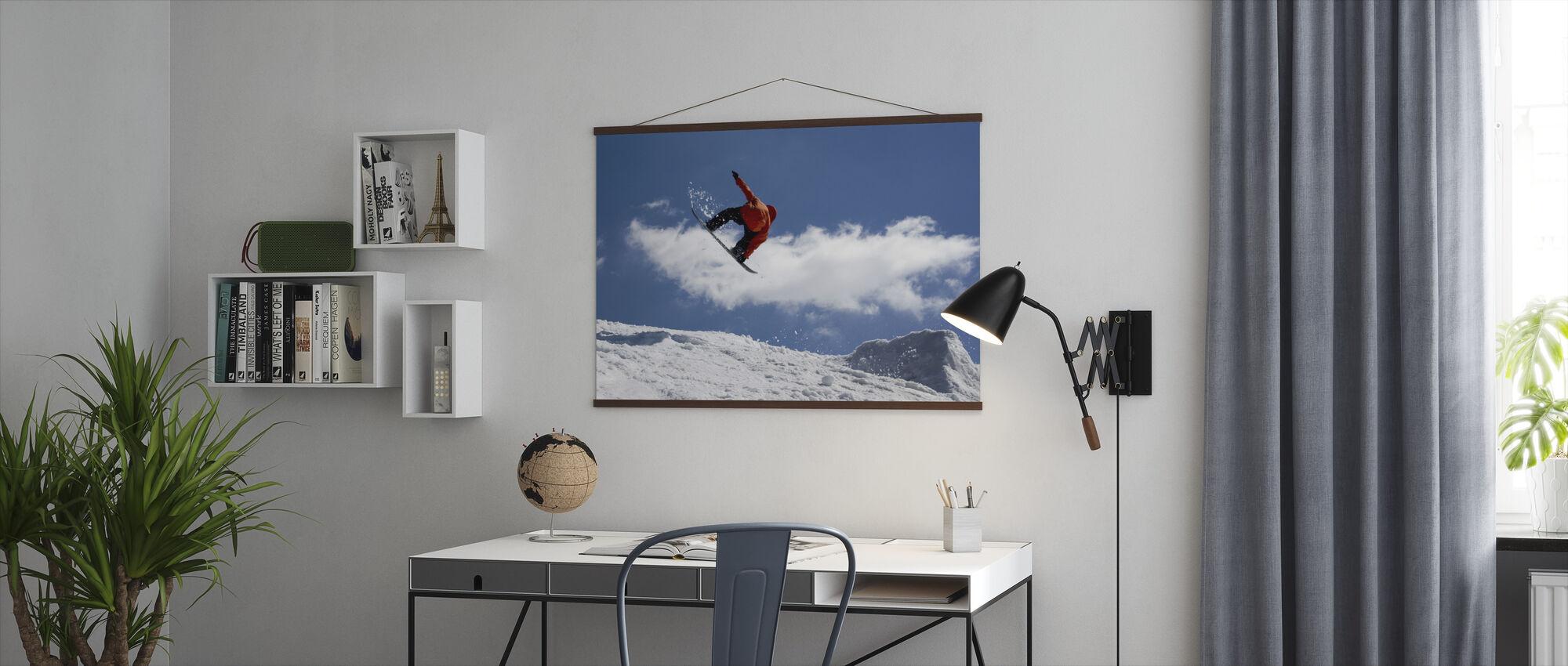 Snowboard Jump van Ramp - Poster - Kantoor