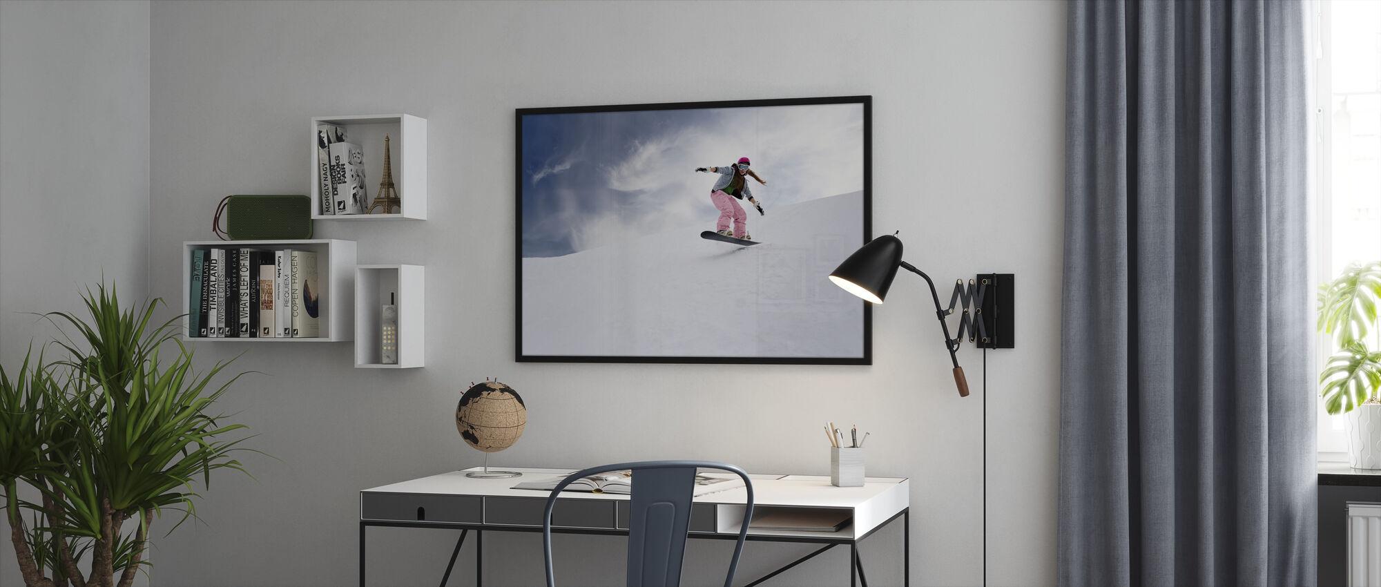 Lumilauta ratsastaja - Kehystetty kuva - Toimisto