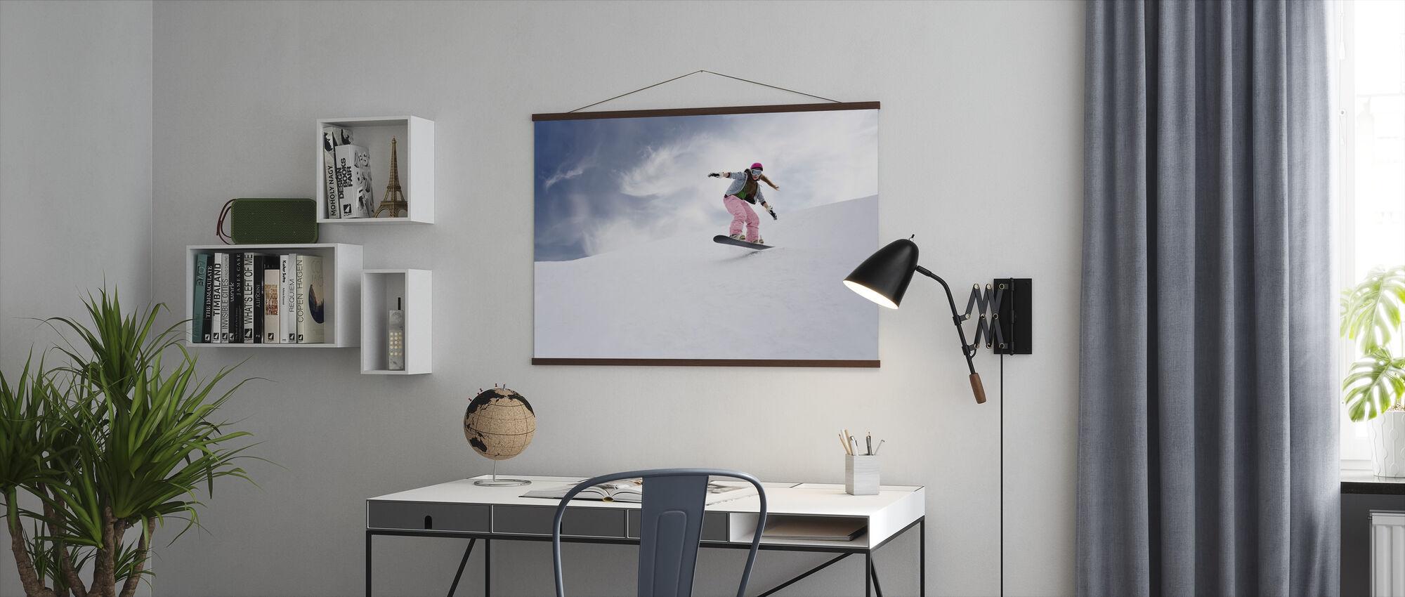 Snowboard Rider - Poster - Kantoor