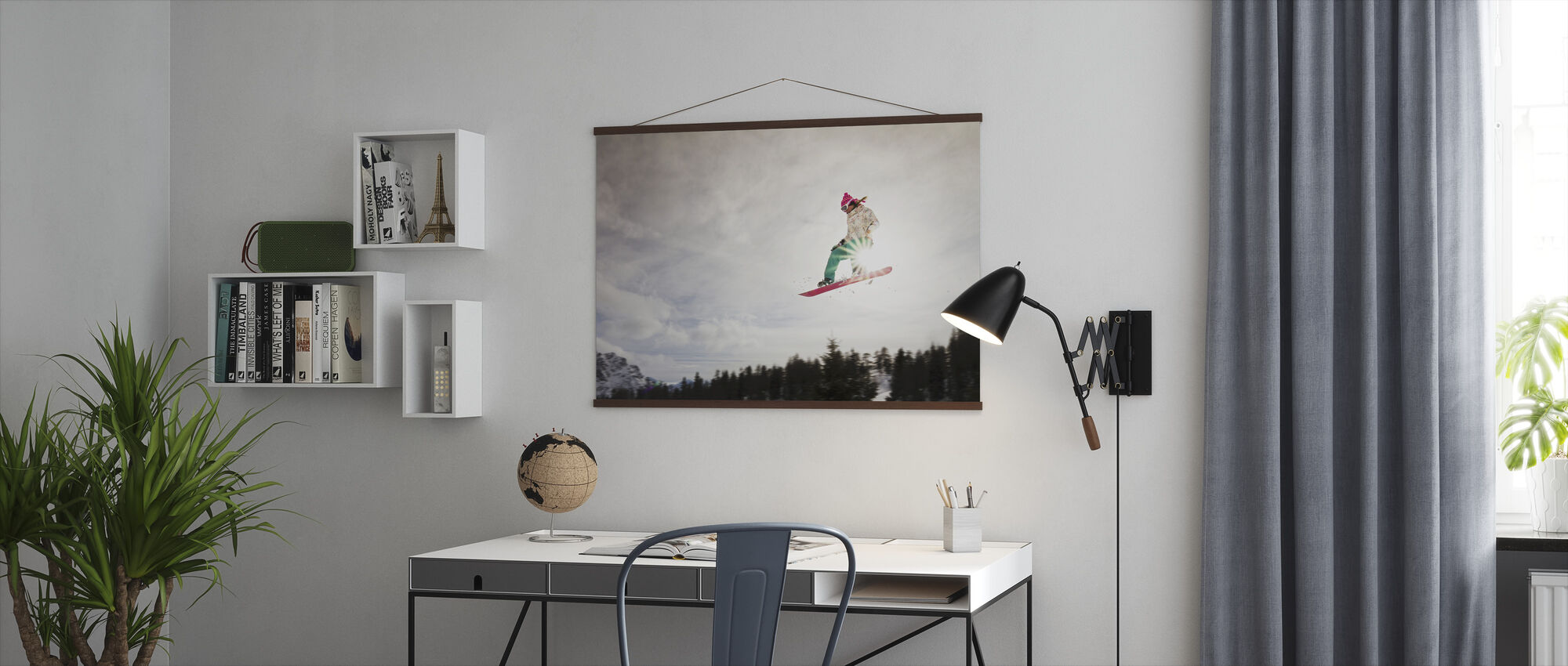 Snowboard Sunshine Jump - Poster - Kantoor