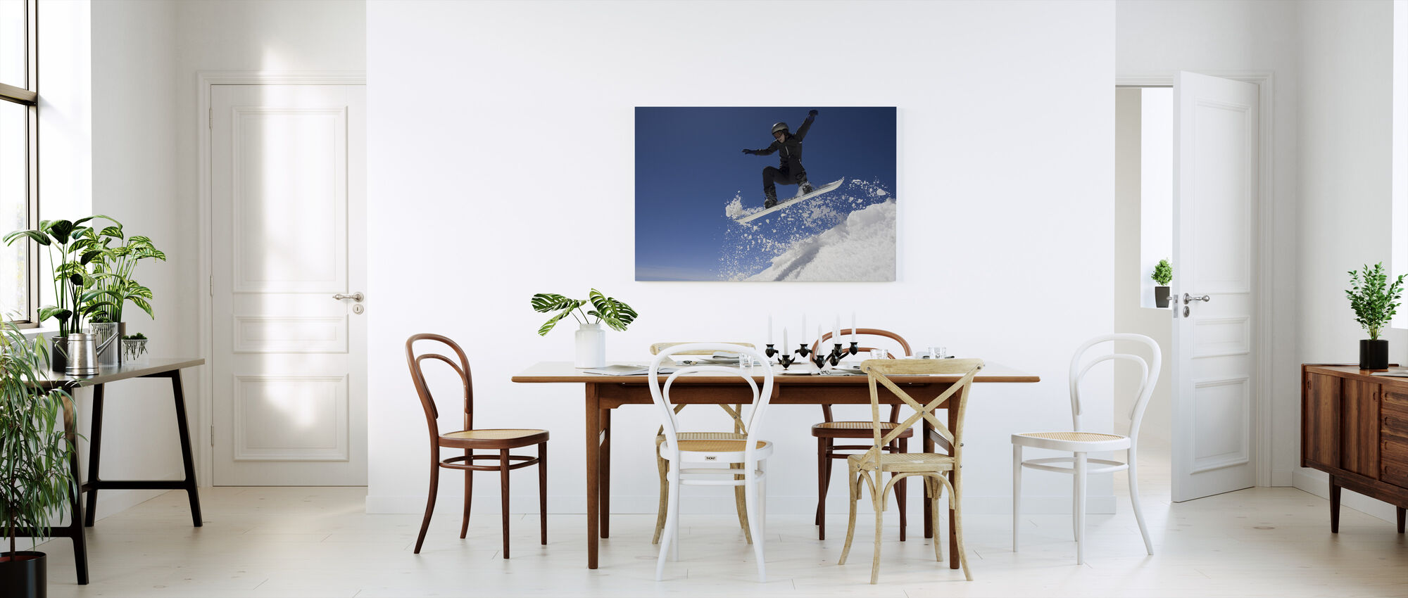 Snowboarder Jumping through Air - Canvas print - Kitchen