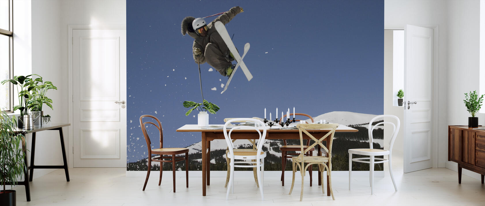 superpipe skier fototapete nach ma photowall. Black Bedroom Furniture Sets. Home Design Ideas