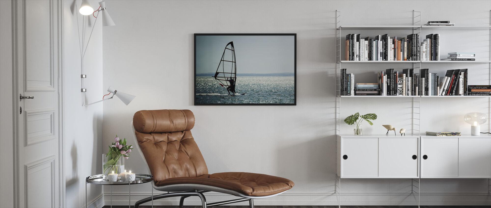 Windsurfer Panorama - Ingelijste print - Woonkamer