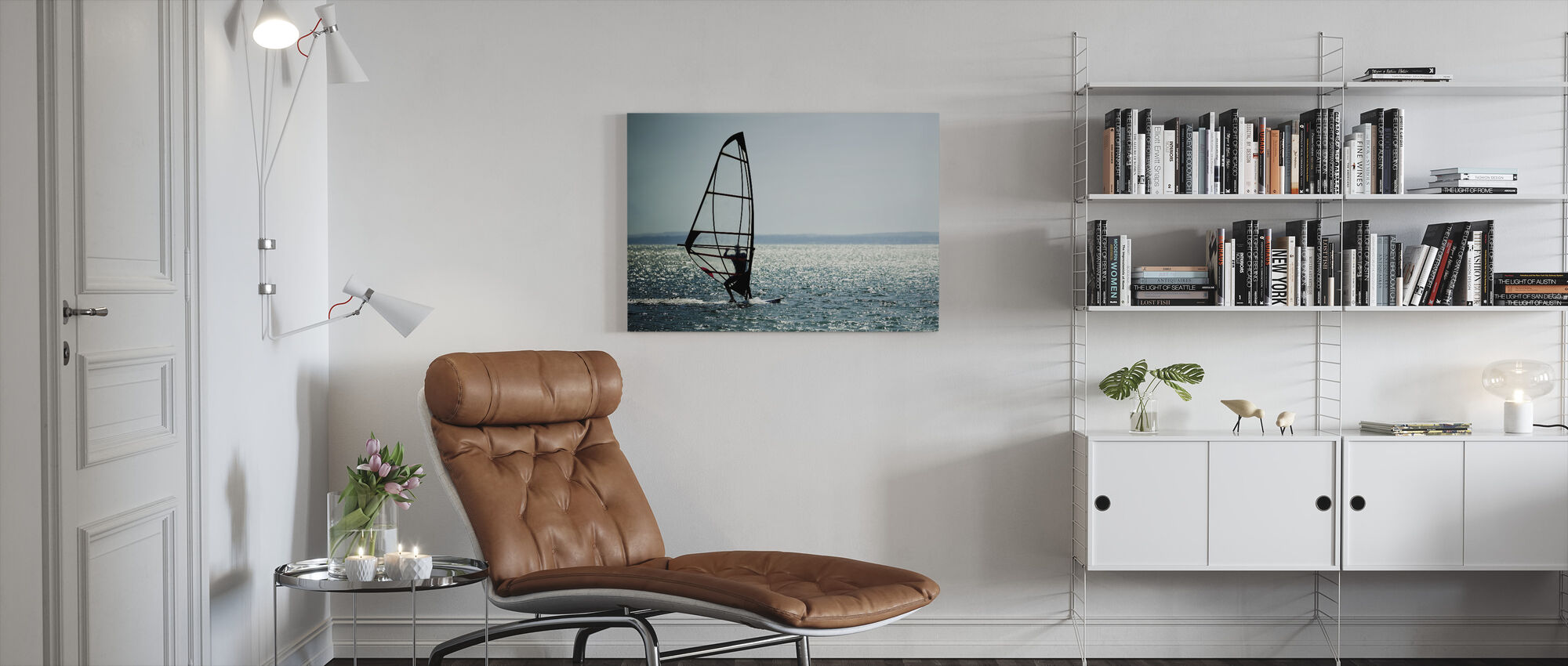Windsurfer Panorama - Canvas print - Woonkamer
