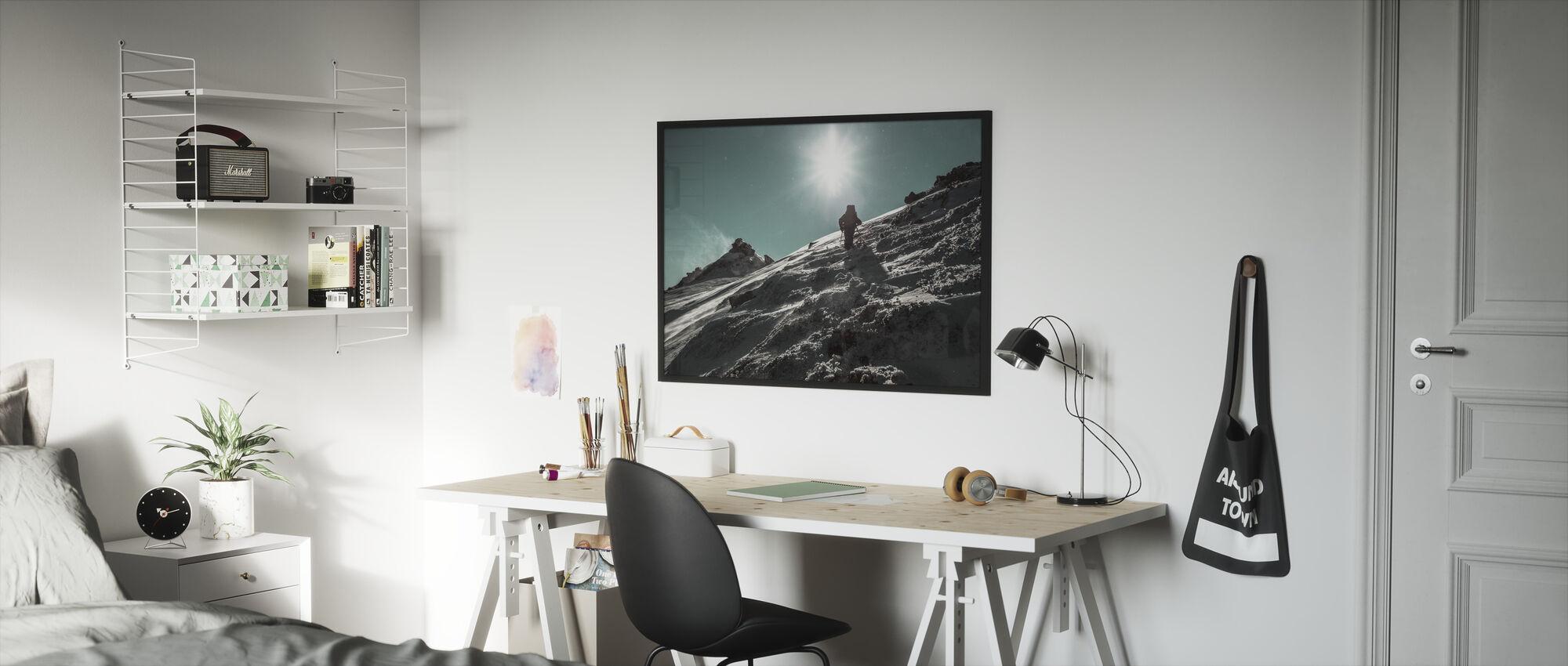 Winter Wandeling - Ingelijste print - Kinderkamer
