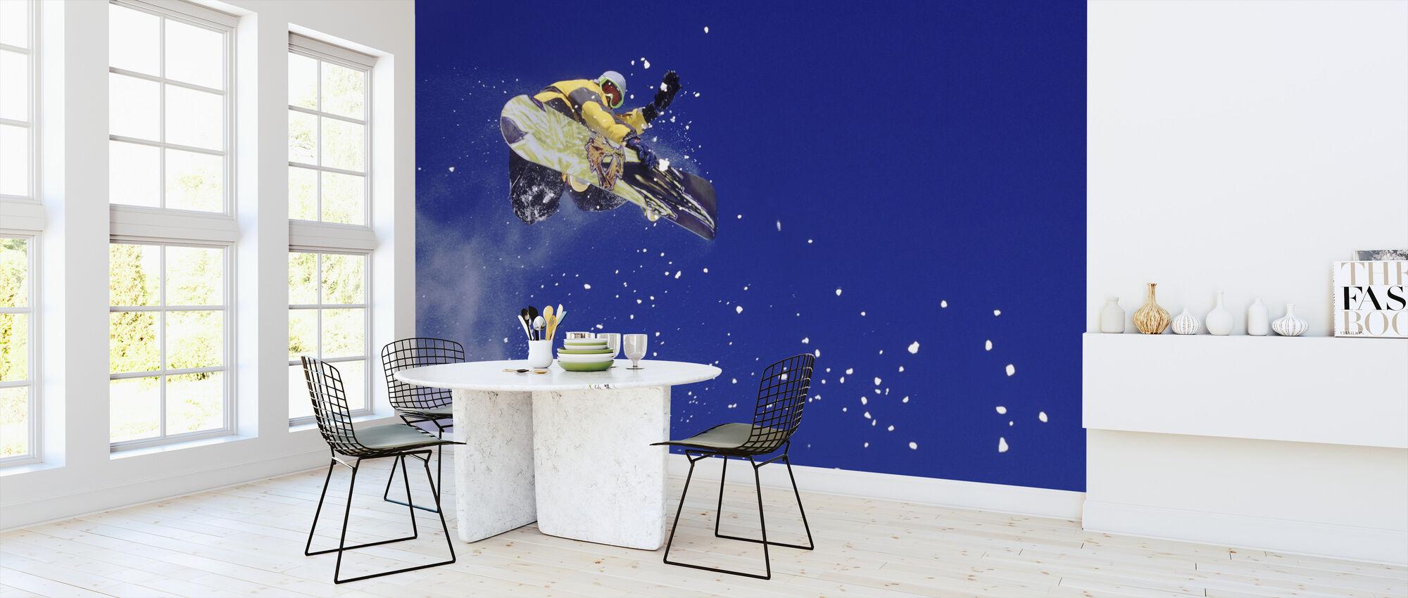 Airborne Snowboarder - Wallpaper - Kitchen