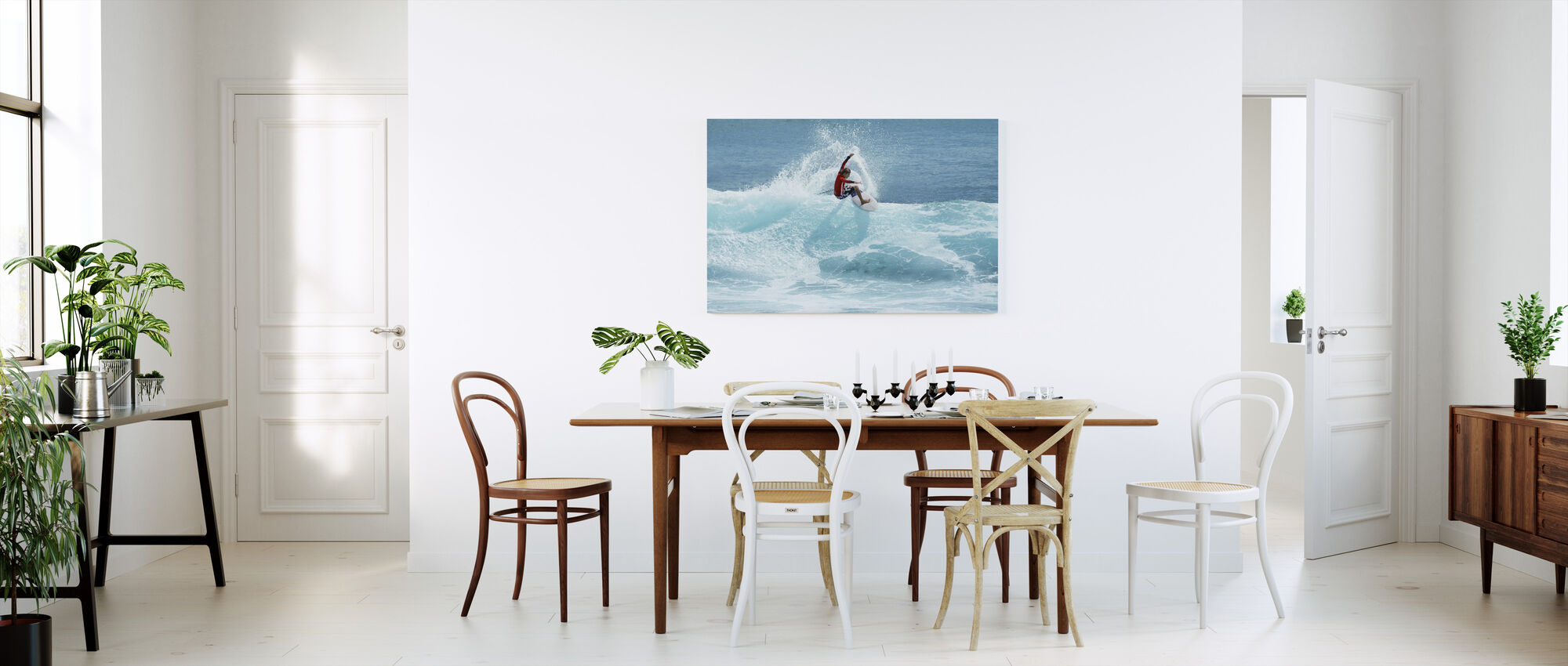 Surfer Carving Top of Wave - Canvas print - Kitchen