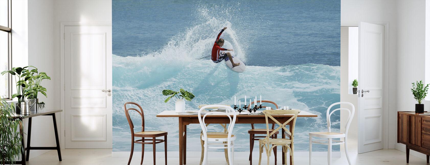 Surfer Carving Top van Wave - Behang - Keuken