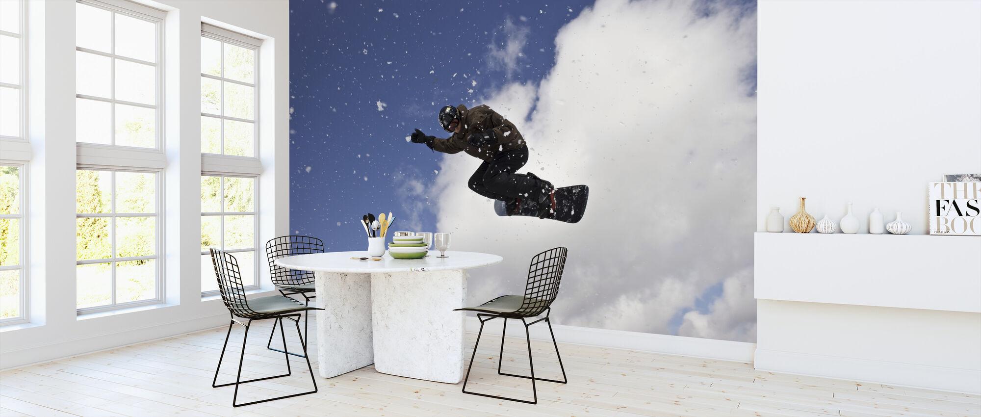 Snowflake Jump - Wallpaper - Kitchen
