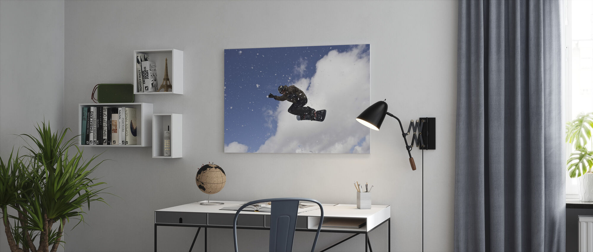 Snowflake Jump - Canvas print - Office