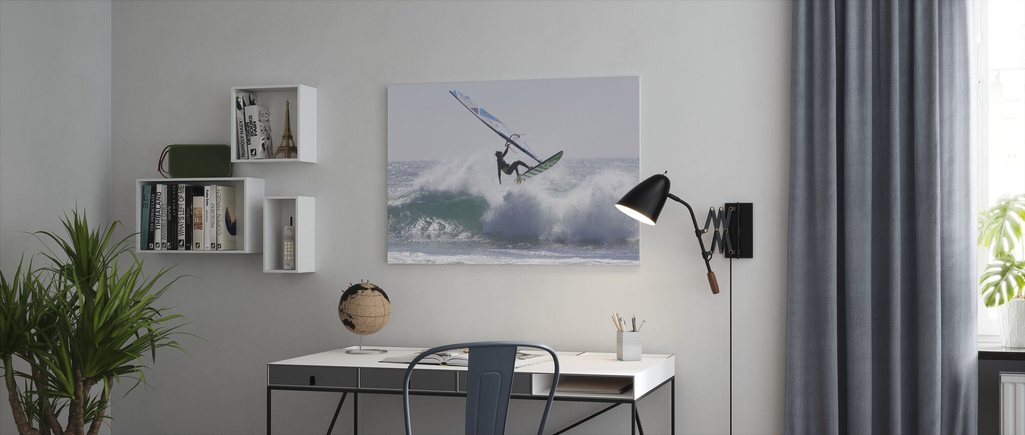 Windsurfing Jump - Canvas print - Office