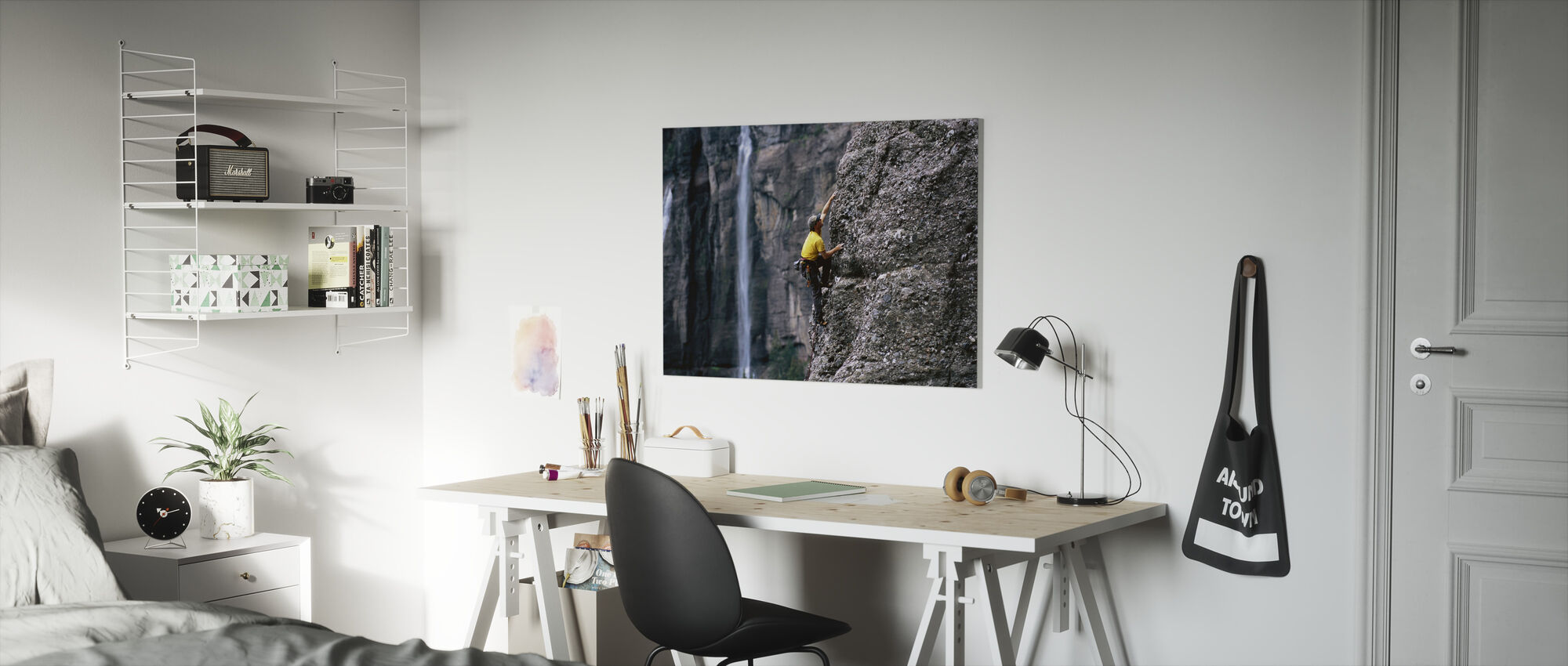 Rock Climbing at Bridal Veil Falls - Canvas print - Kids Room