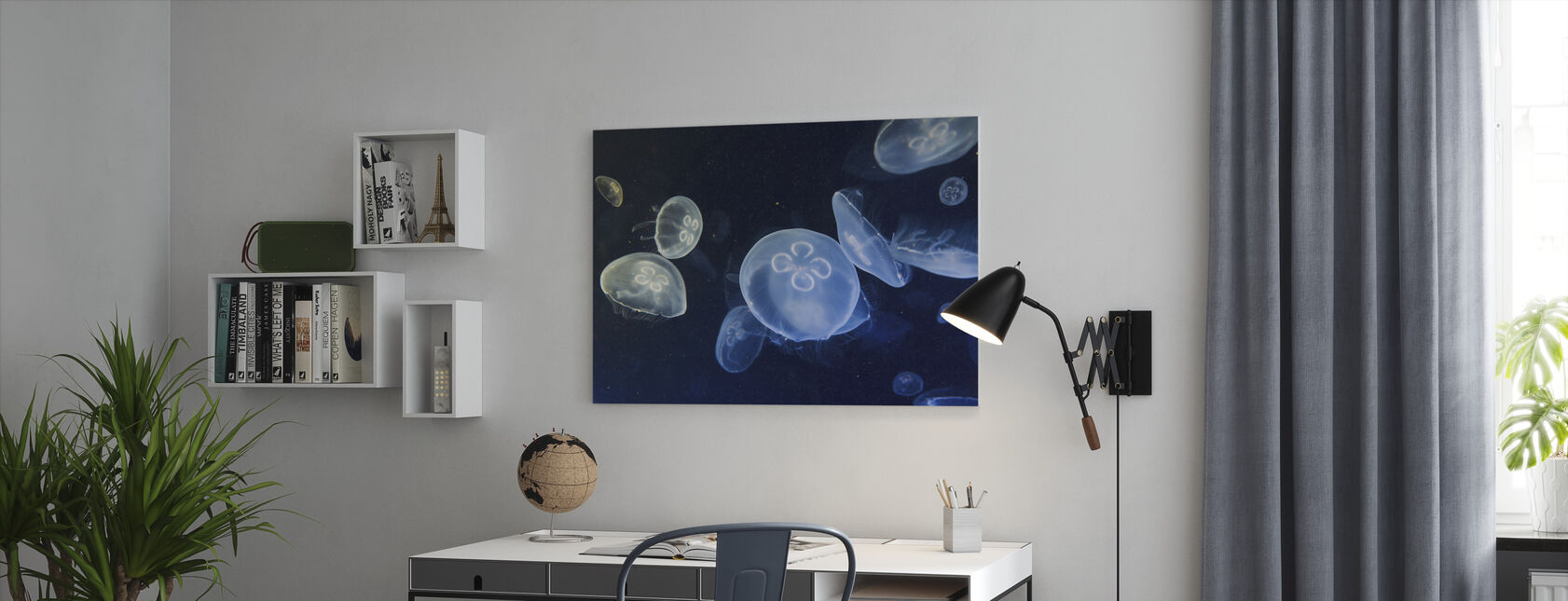 Floating Jellyfish - Canvas print - Office