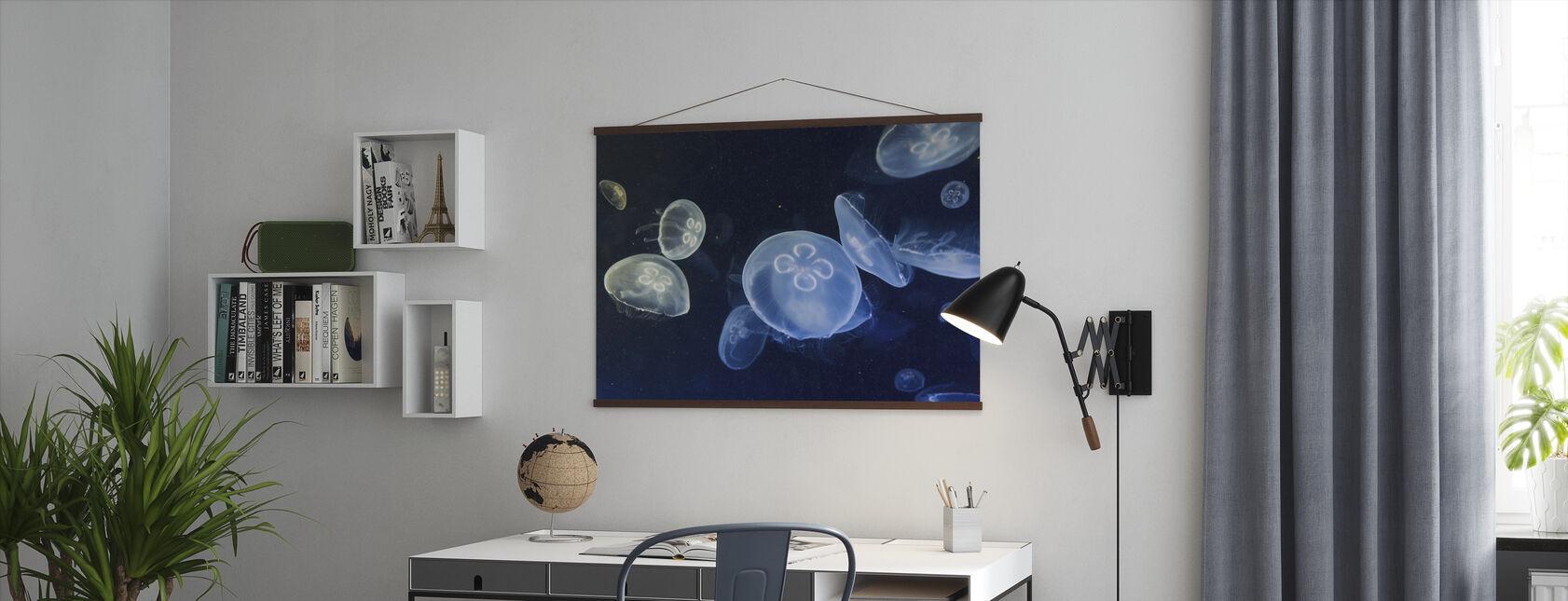Drijvende kwallen - Poster - Kantoor