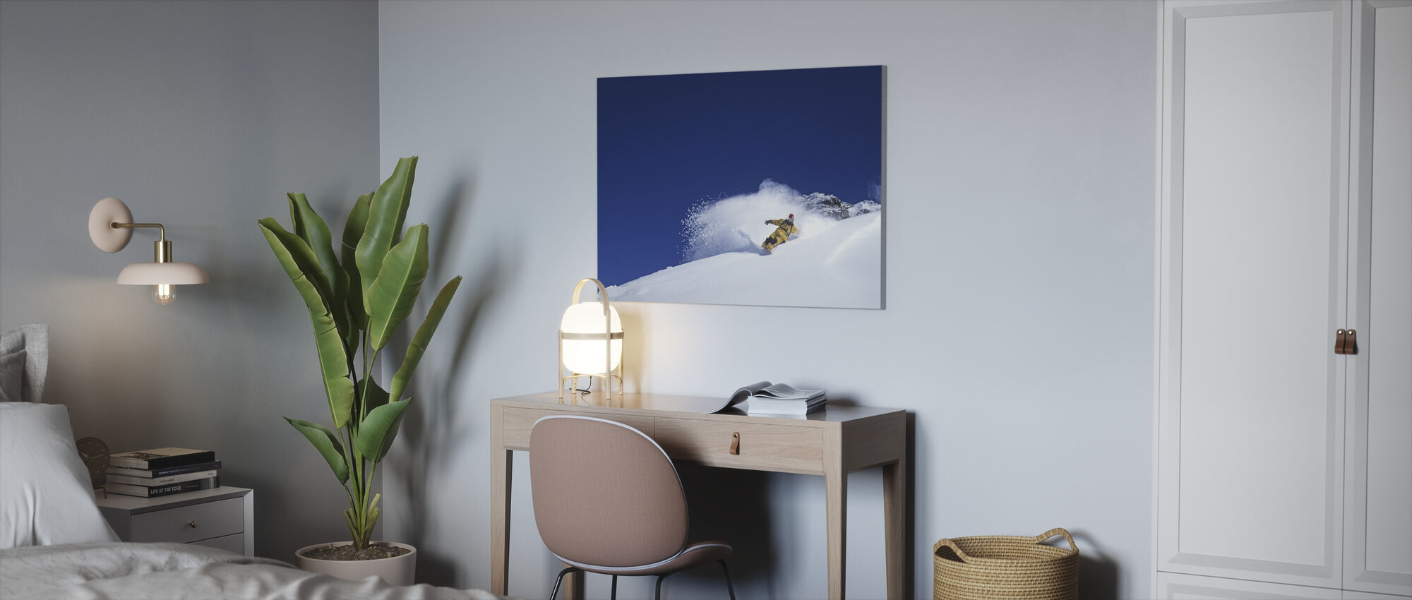 Powder Dreaming - Canvas print - Office