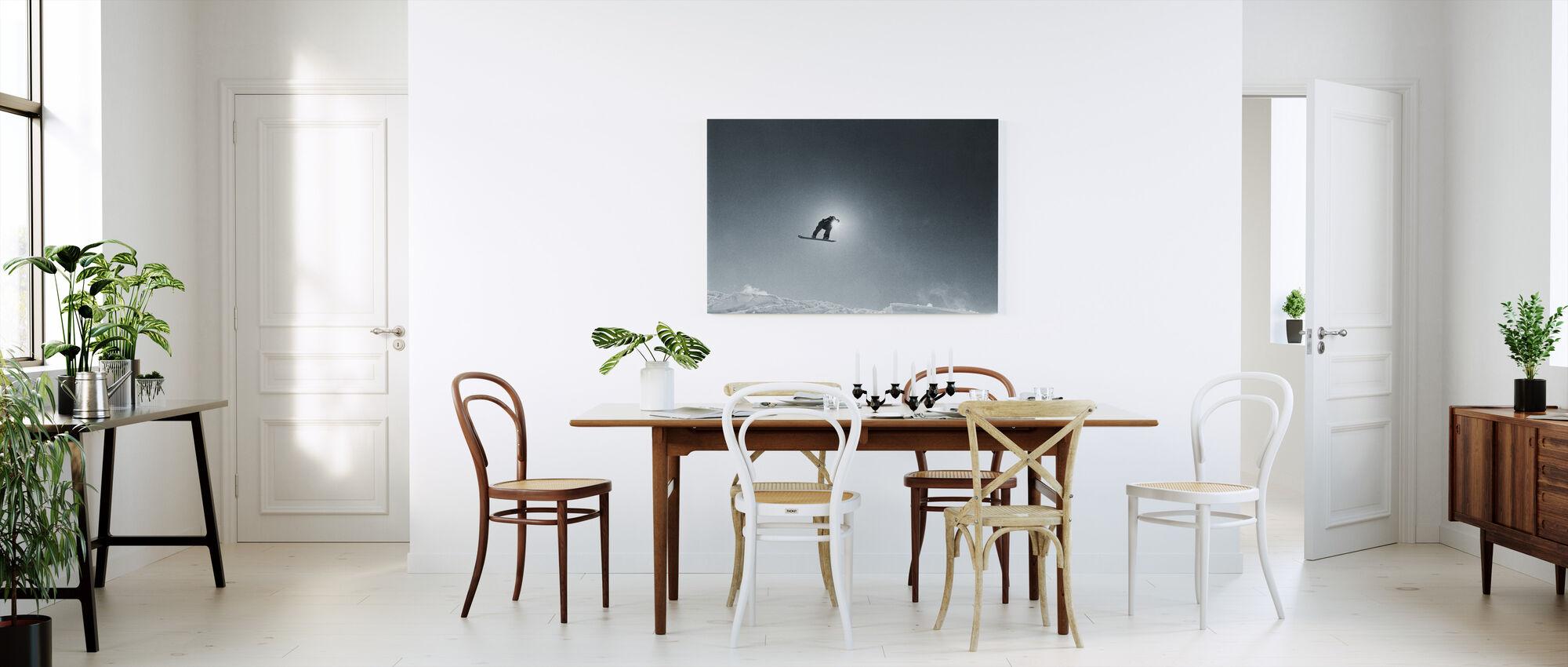 Snowboard Silhouette - Canvas print - Kitchen