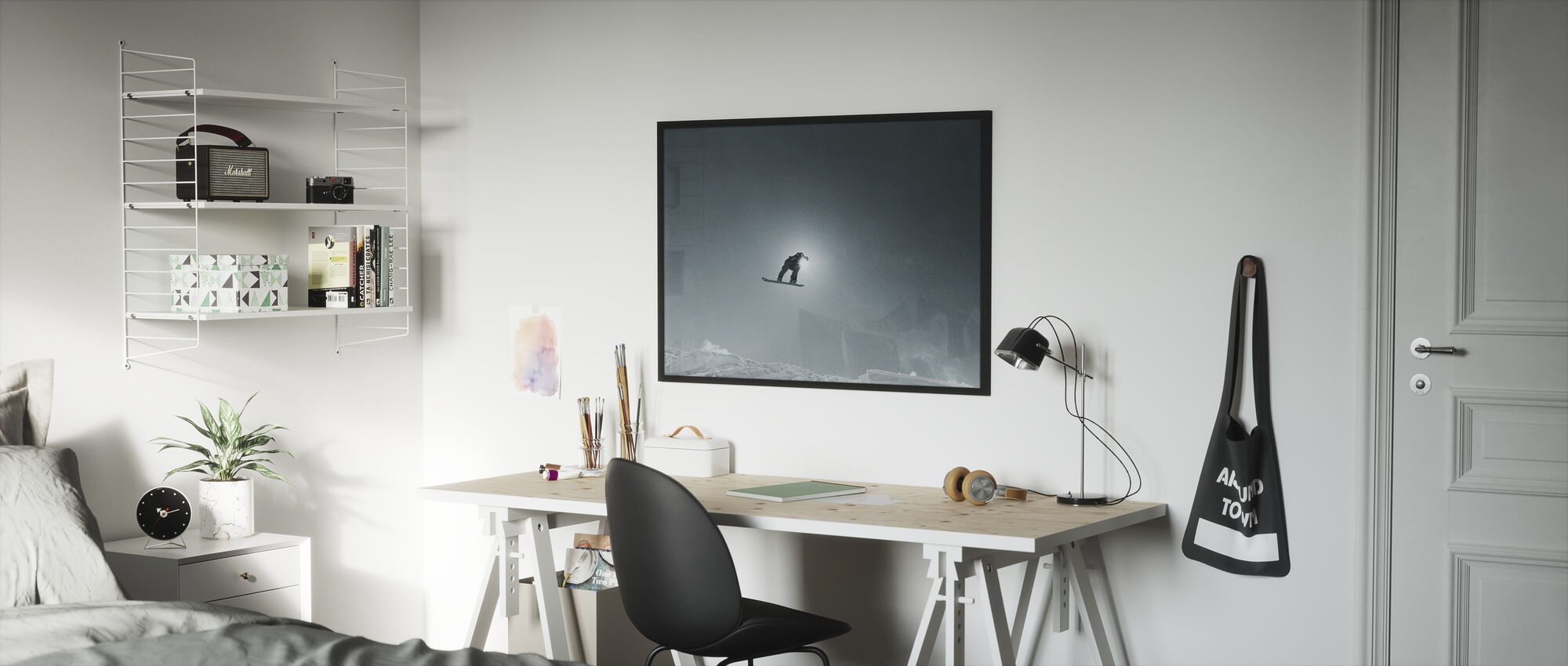 Snowboard Silhouette - Framed print - Kids Room