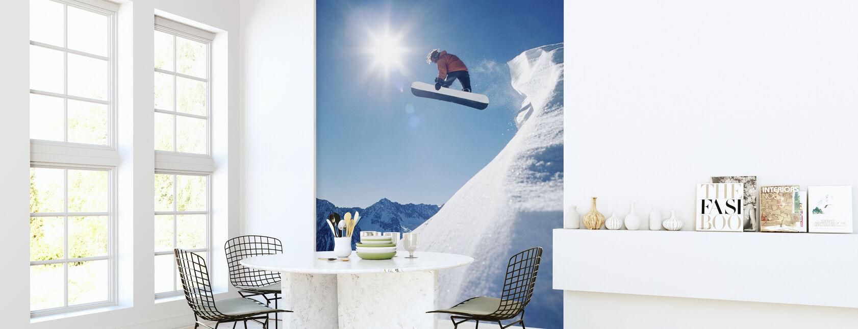 Snowboard Grab - Wallpaper - Kitchen