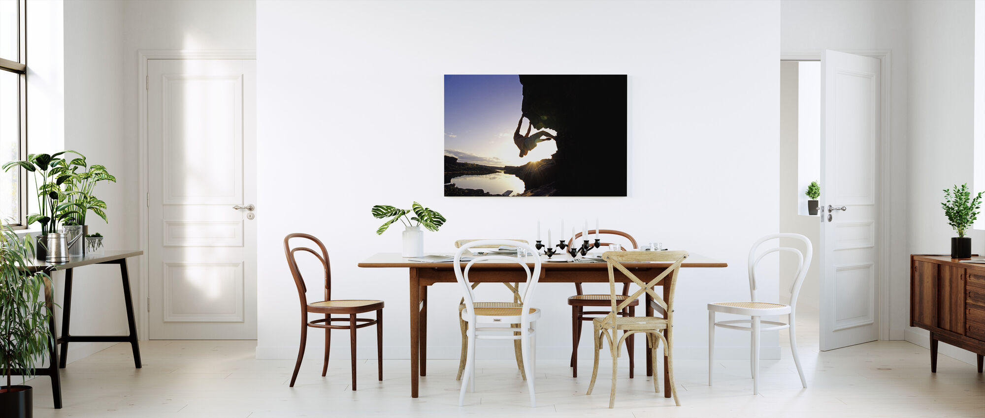 Bouldering in Twin Falls - Canvas print - Kitchen