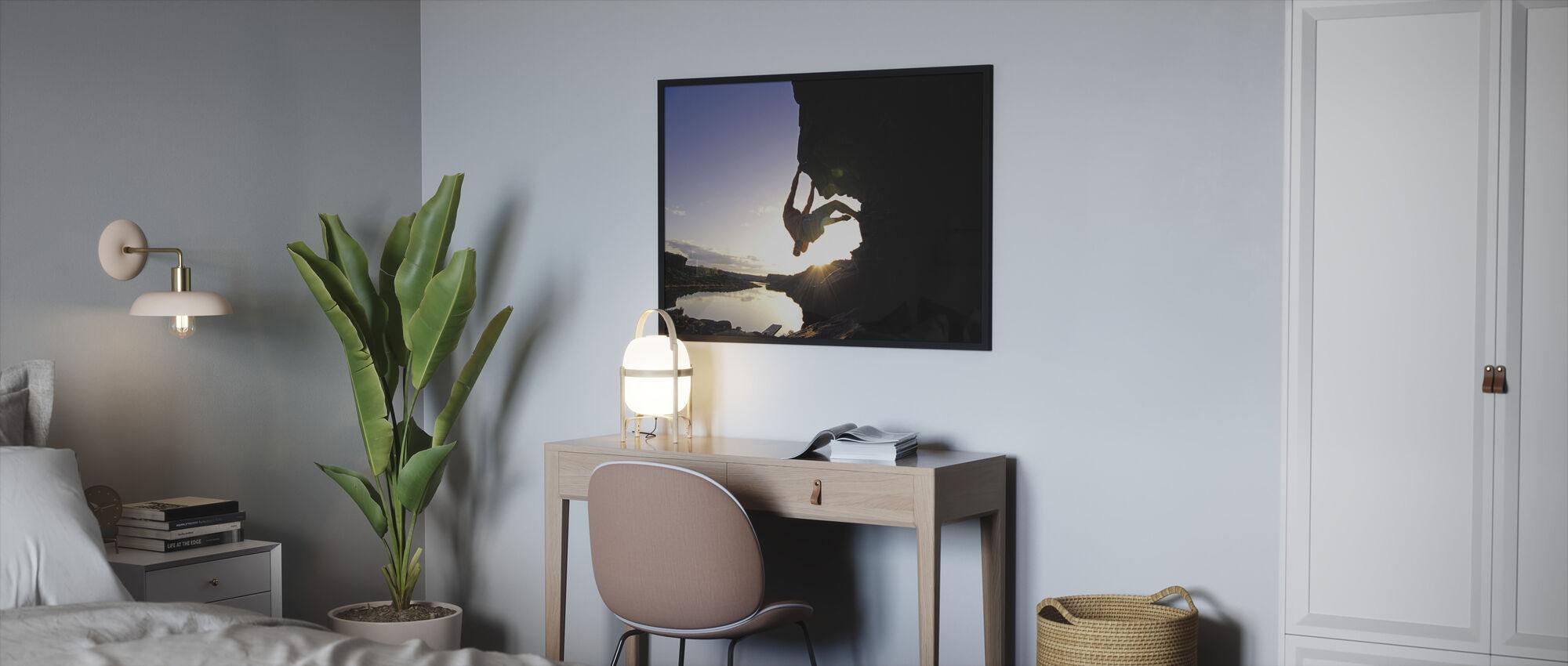 Boulderen in Twin Falls - Ingelijste print - Slaapkamer