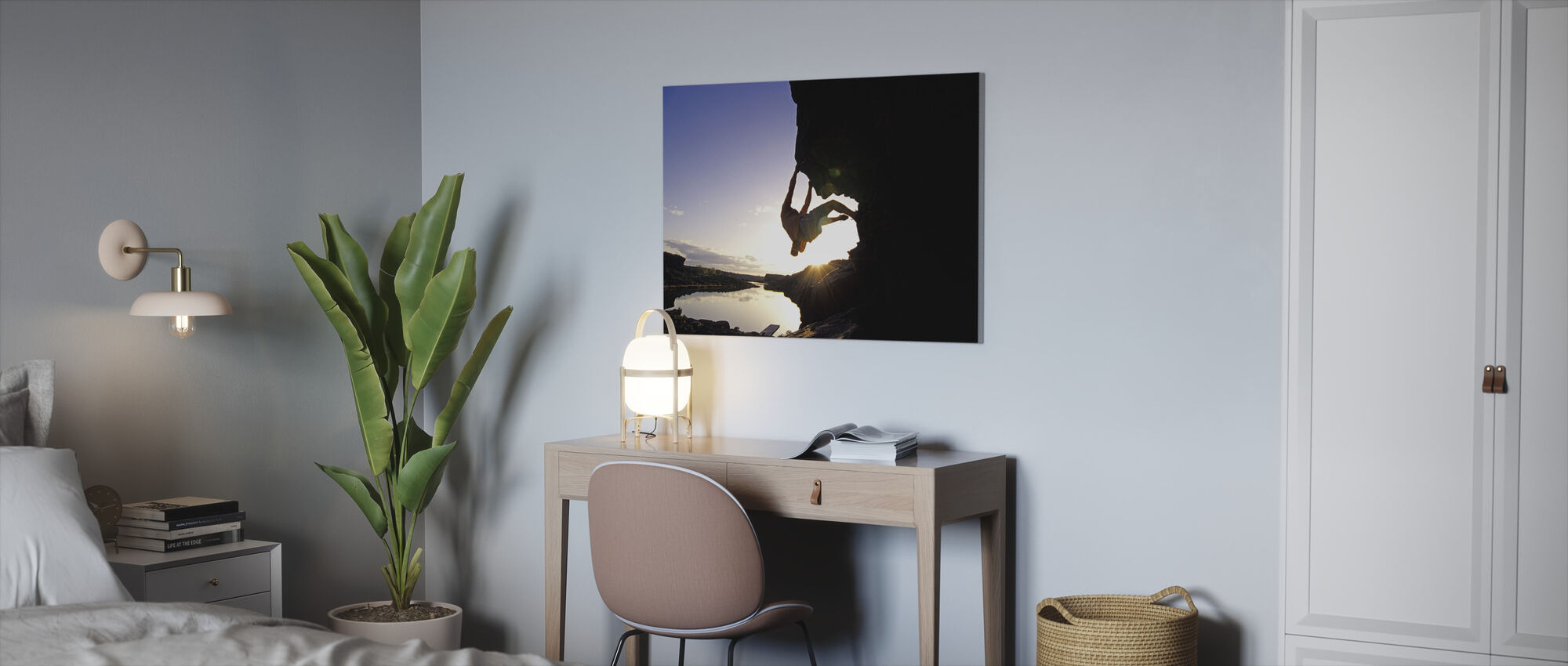Bouldering in Twin Falls - Canvas print - Office