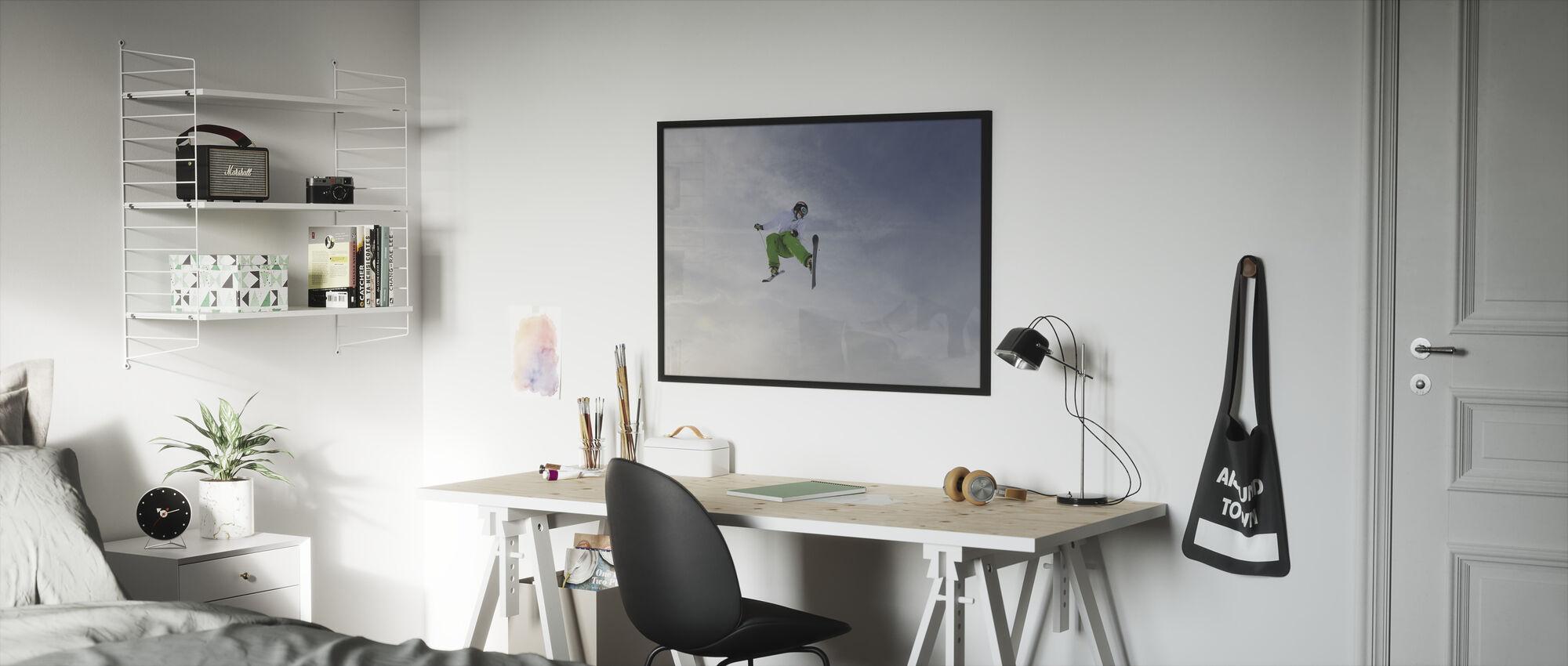 Freestyle Skiing - Framed print - Kids Room